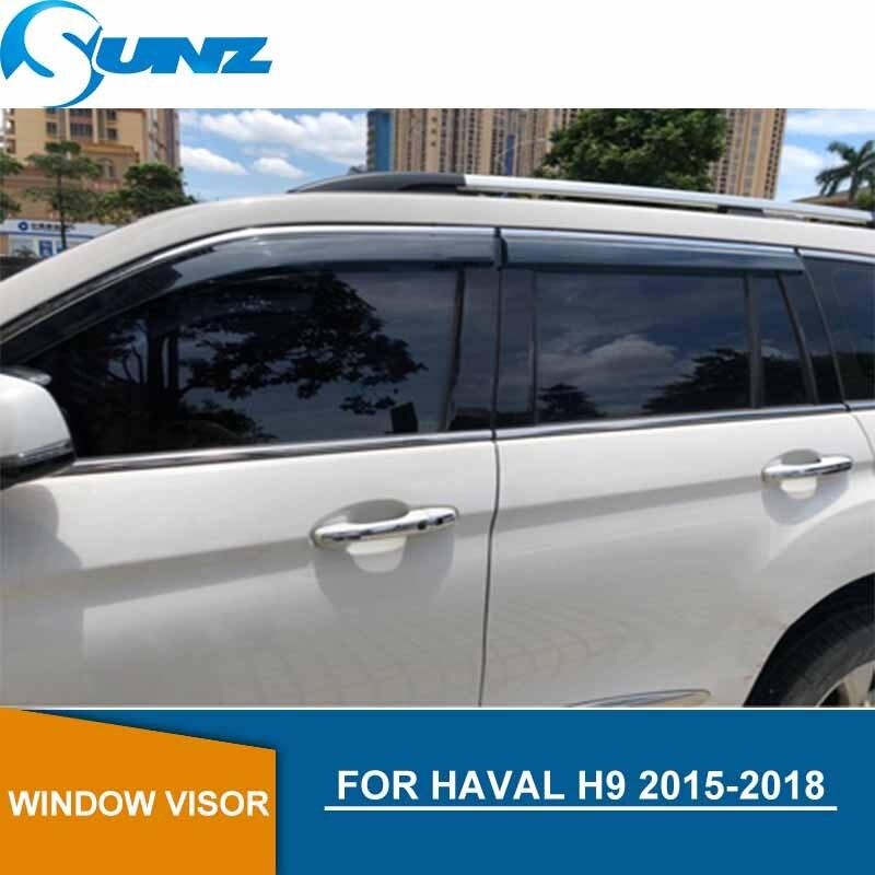 Car door visor For Haval H9 2015-2018  Car window rain protector For HAVAL H9 2015 2016 2017 2018 car accessories SUNZ