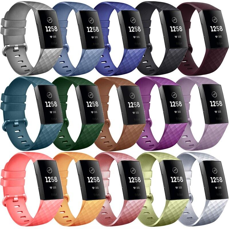 Ремешок спортивный для Fitbit Charge 3, мягкий сменный Браслет из ТПУ для наручных часов, подходит для bit Charge 4 Charge 3 SE