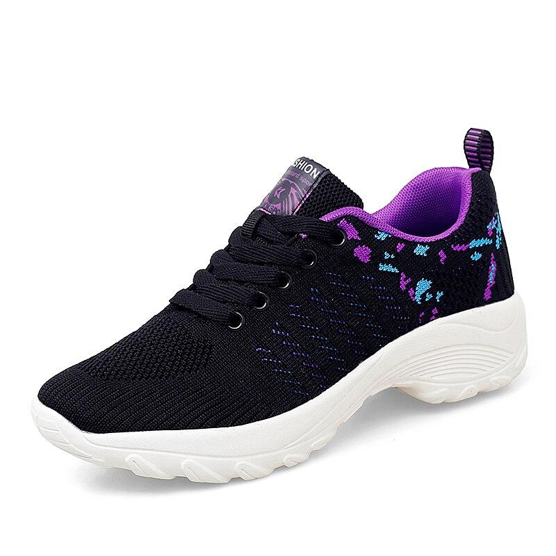 STS été mode femmes plate-forme chaussures femme respirant maille chaussures décontractées mocassin Zapatos Mujer dame bateau chaussure taille 35-42