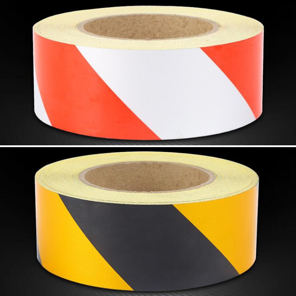 Self-Adhesive Reflective Safety Warning Tape Road Traffic Construction Site недорого