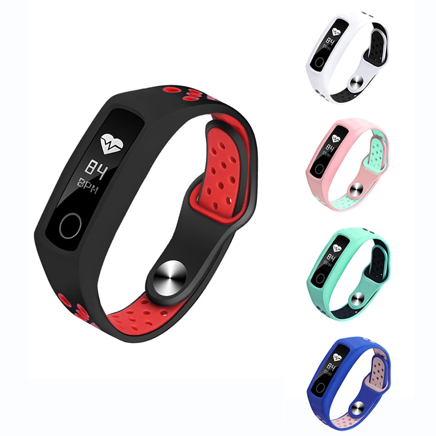 Silicone Wrist Strap For Huawei Honor Band 4 5 Smart Bracelet Strap for Honor Band 5 Watch Accessori