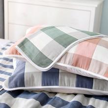Sortie dusine pur coton gaze oreiller serviettes motif Multiple Couple taies doreiller personnalisable Logo 100% coton hôtel Plaid