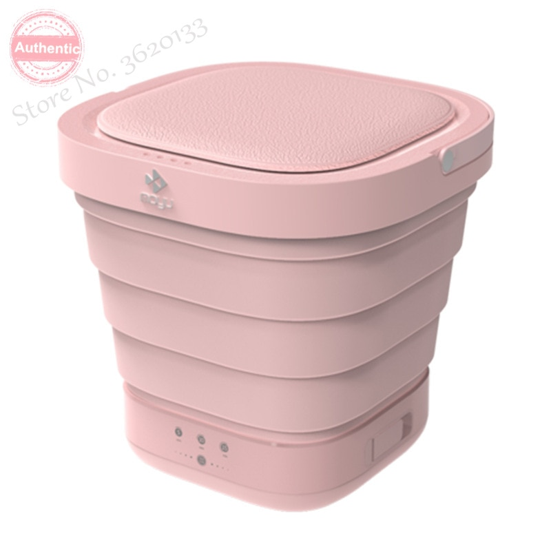 Portable Mini Folding Clothes Washing Machine Bucket Automatic Home Travel Self-driving Tour Underwear Foldable Washer & Dryer