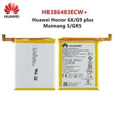 Hua Wei 100% Orginal HB386483ECW+ 3340mAh Battery For Huawei Maimang 5 Honor 6X G9 plus GR5 2017 MLA-AL00/AL10 Batteries