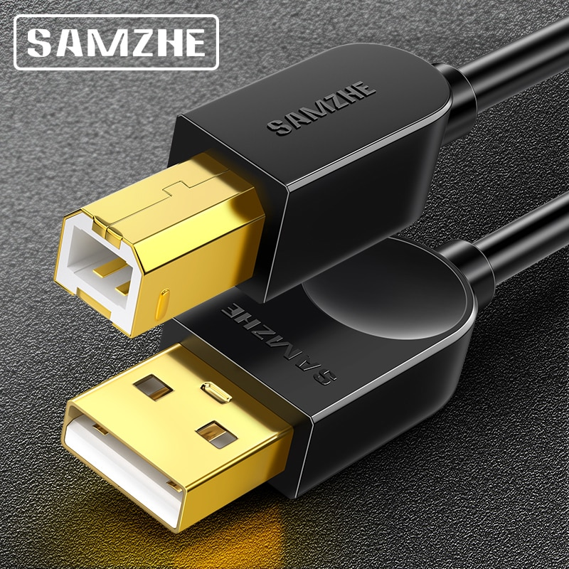SAMZHE USB2.0 Print Cable USB 2.0 Type A Male To B Male Sync Data Scanner Cable  for HP Canon Epson Printer jucaili 10pcs ffc flat data cable 29pins 400mm for epson xp600 print head cable for skycolor allwin aifa witcolor printer 29p