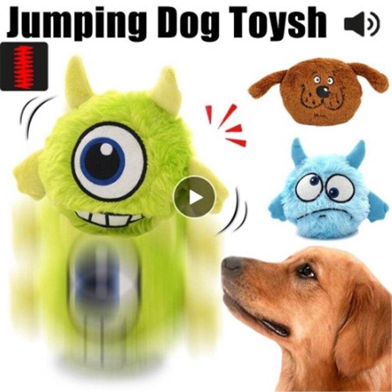 Brinquedo de triagem brinquedos para animais estimação trela giggle ball shake interativo pelúcia salto automático novo presente caminhada filhote de cachorro de pelúcia suprimentos eletrônicos