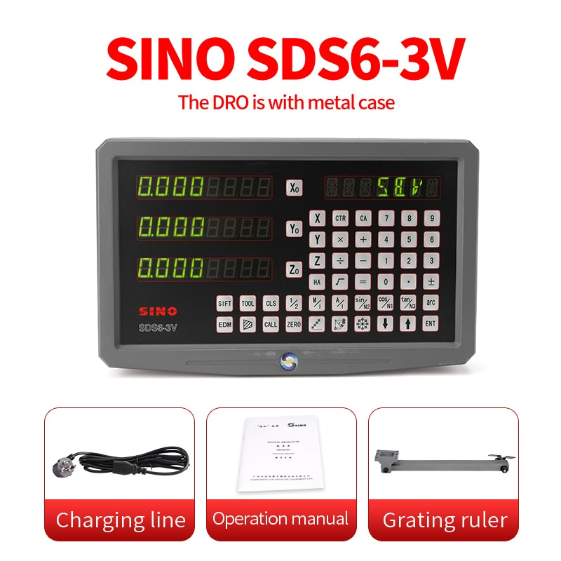الصينية dro SDS6-3V 3 محور قراءات رقمية عرض دي المعادن embalagem torno moagem كونتادور 110v/220v