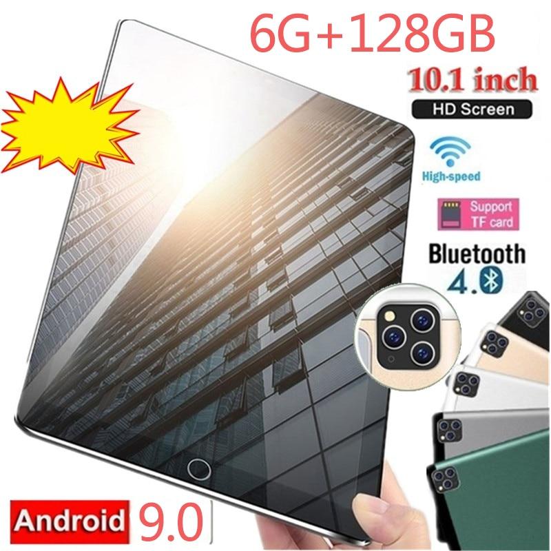 10,1 pulgadas Tablet nuevo Android 9,0 Bluetooth 4G Red Tbalet diez Core 6GB + 128GB WiFi Tablet PC tarjeta SIM Dual Tablet Pc