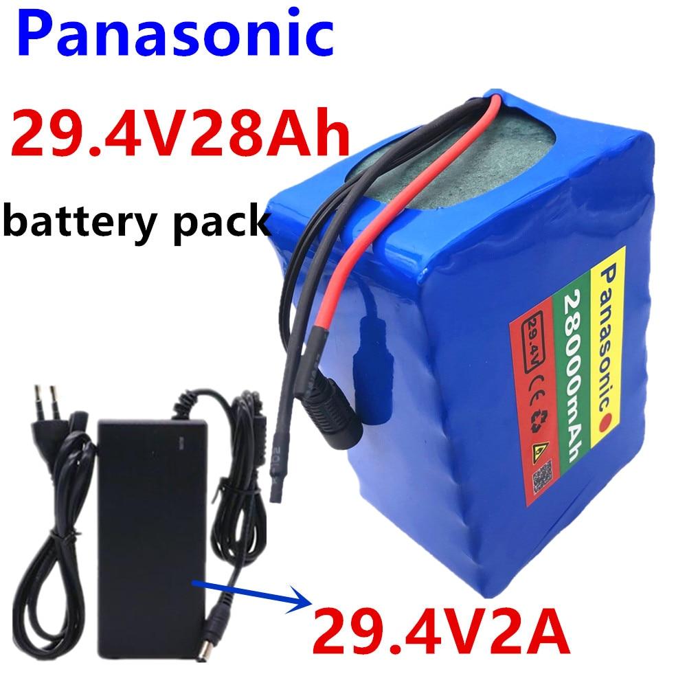Batería de litio Panasonic 7S5P 24v 28Ah 250w 29,4 V 15000mAh para silla de ruedas bicicleta eléctrica + cargador