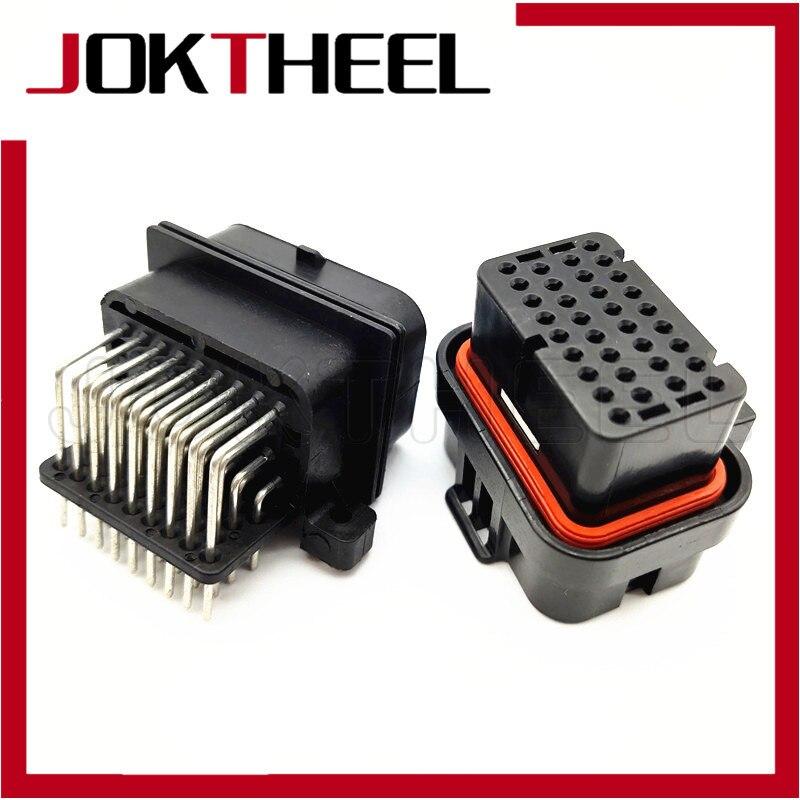 1 ensemble 6437288-1 4-1437290-0 TE AMP   Super sceau, 1.0mm 34 broches, scellé, femelle électrique mâle PCB connecteur broche ordinateur, prise ECU
