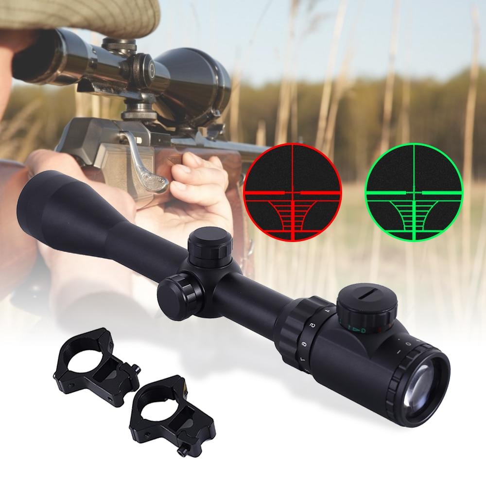 Mira de Rifle, pistola de aire 3-9x40, óptica táctica, visión verde roja, mira de aire óptica con monturas de 11MM/20MM