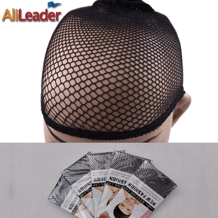 Alileader Black Snood Nylon Hairnet Materials For Wigs Making Streching Elastics Mesh Cap For Women Wigs Hair Accessories 1Pc