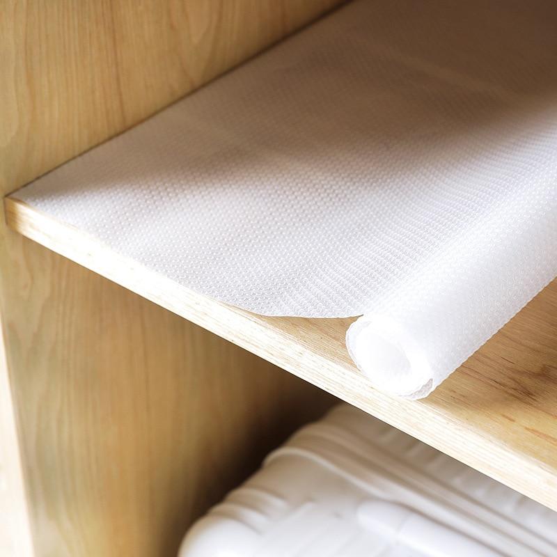 1 rollo de Mantel impermeable para cocina, cajones, gabinete, revestimiento para estante, antideslizante, resistente al moho, mantel transparente de EVA