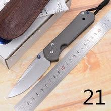 JUFULE grand Sebenza 21 couteau pliant S35vn TC4 titane poignée couperet utilitaire fruits paring cuisine camp couteau de chasse EDC outil