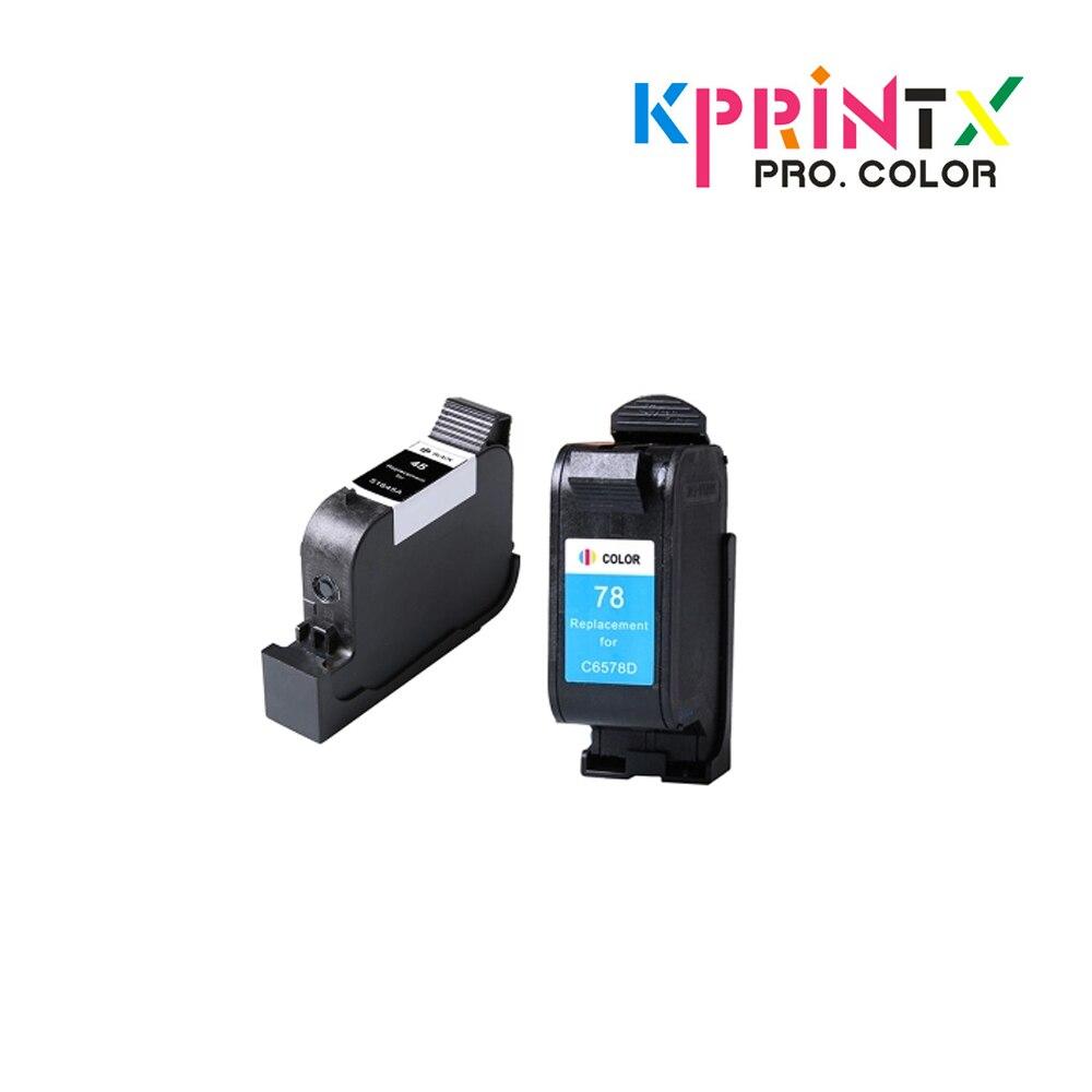 2x compatible pour hp45 cartouches dencre pour 45 51645A (noir) pour 78 C6578DN (tricolore) pour 950 950C 960 970C