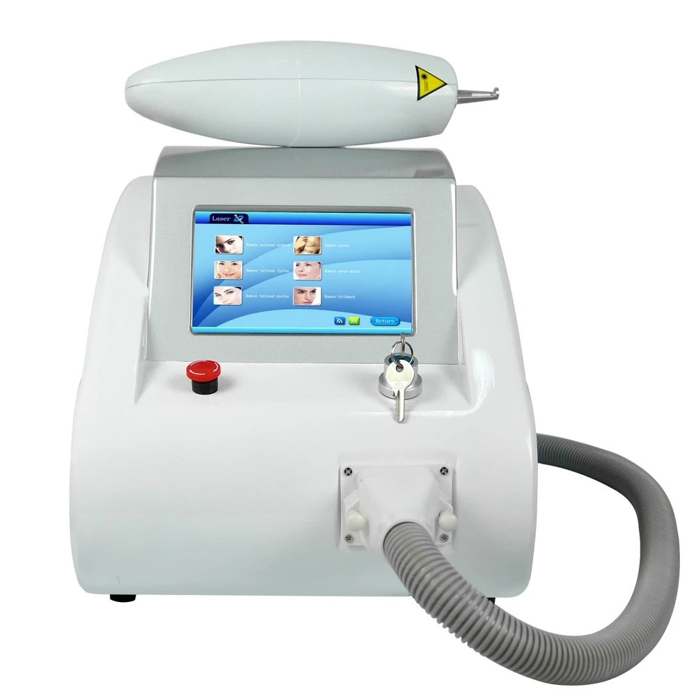 Q Switched ND Yag Laser Tattoo Removal Pigment Wrinkle Removal Machine Skin Rejuvenation Carbon Peeling Handle With Laser Sight