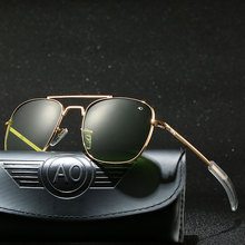 Z Case Aviation AO okulary przeciwsłoneczne męskie luksusowe markowe okulary przeciwsłoneczne dla mężczyzn American Army Military szklana soczewka optyczna karton