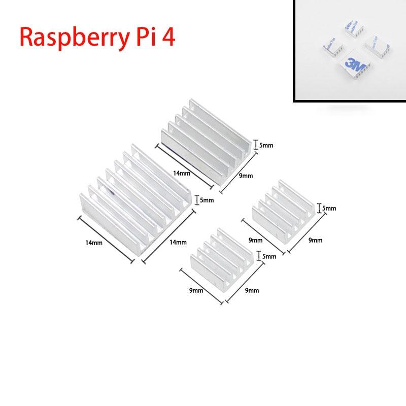 Raspberry Pi 4 radiator aluminiowy chłodnica grzejnika dla Raspberry Pi 4 Model B radiatory dla Raspberry Pi 4B