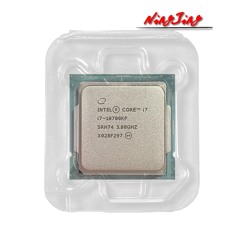 [해외] 인텔 코어 i7-10700KF i7 10700KF 3.8 GHzEight 코어 16-스레드 CPU 프로세서 L2 = 2M L3 = 16M 125W LGA 1200 새로운하지만 팬