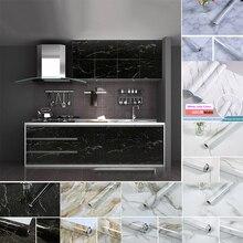10M Selbst Klebstoff Marmor Tapeten Wasserdichte PVC Wand Papier Marmor Aufkleber DIY Badezimmer Küche Schrank Platte Dekoration