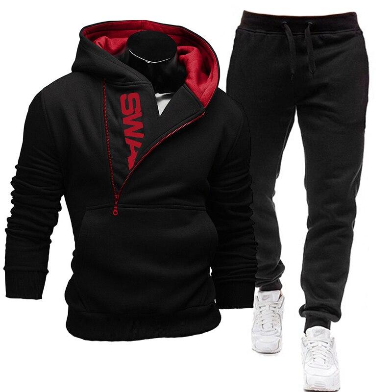 Спортивный костюм мужской из 2 предметов, свитшот + спортивные штаны на молнии, повседневная мужская одежда, мужская одежда, размеры, мужская...