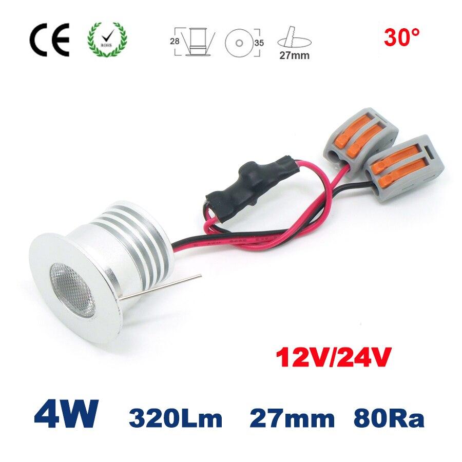 1 Вт 2 Вт 3W 4 Вт COB 12 в 24 В dc мини Точечный светильник внутренний встроенный шкаф кровать комната прожектор CE
