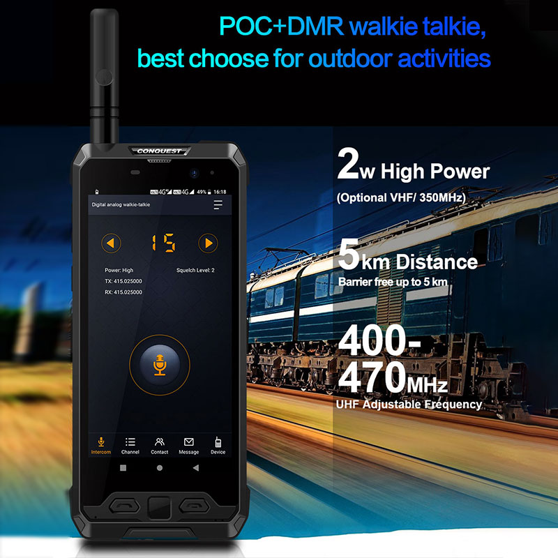 2021 Upgrade CONQUEST S19 IP68 Waterproof Rugged Smartphone Mobile Phone Fingerprint Face ID Android 8.1 Android11 48MP Camera enlarge