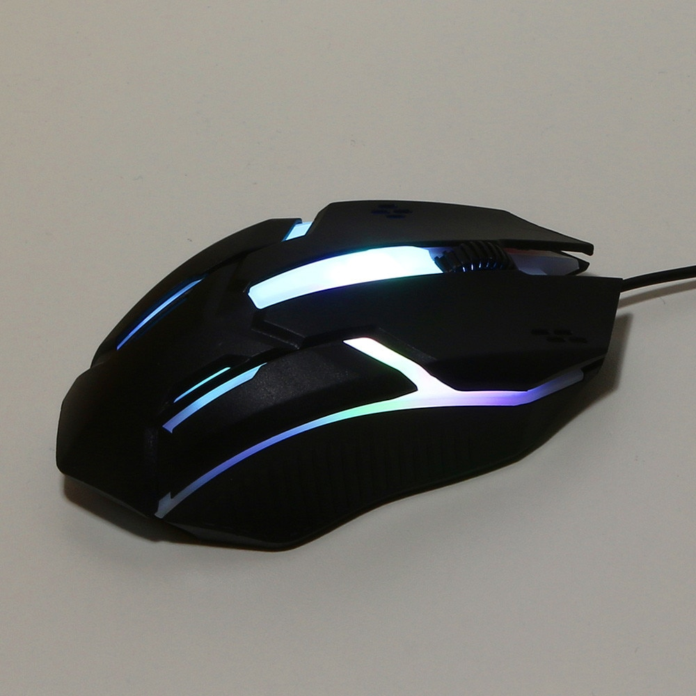Wired Mouse Fashion LED Light Optical Portable Mouse USB Plug and Play Mouse Ergonomic Professional Gaming Mice for Gaming 2021