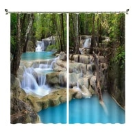 personalized customization of shading and heat insulating curtains suitable for bedrooms with digital printing of woods series