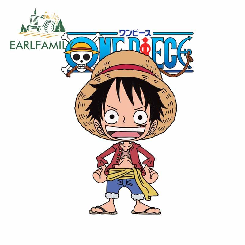 EARLFAMILY 13cm x 9.4cm dla Luffy One Piece naklejki i kalkomanie samochodowe Vinyl Sun Protection wodoodporna naklejka akcesoria samochodowe