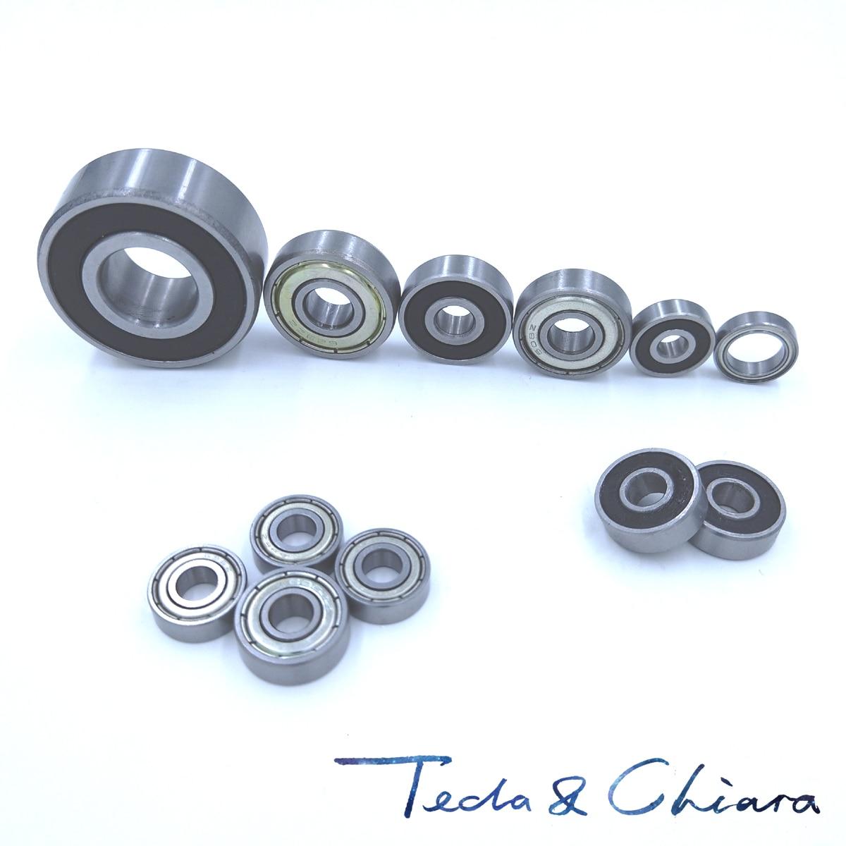10 Uds 606 606ZZ 606RS 606-2Z 606Z 606-2RS ZZ RS RZ 2RZ los rodamientos de bolas de ranura profunda 6x17x6mm alta calidad