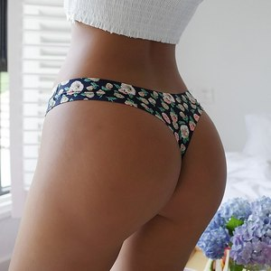 Women Sexy Flowers Lingerie Temptation Low-waist Panties Thong  Breathable Underwear Female  String Intimates 2021