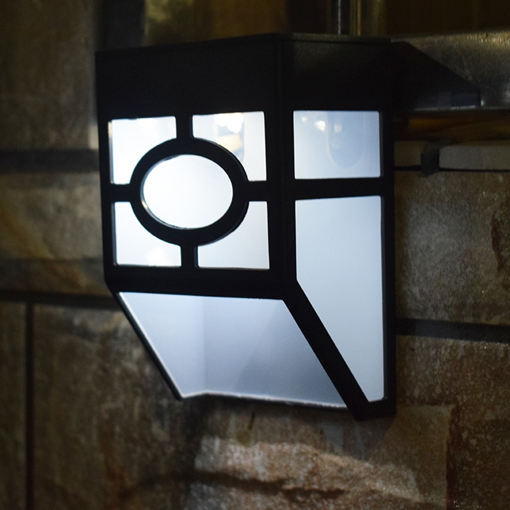 Lámpara de pared con energía Solar resistente al agua luz Solar 2 LEDs iluminación exterior para patio de jardín