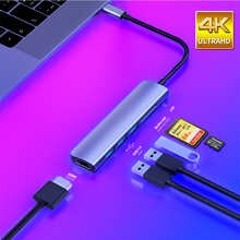 USB 3.0 Type-C Hub к HDMI адаптеру 4K Thunderbolt 3 USB C Hub с Hub 3,1 TF SD Reader слот PD для MacBook Pro/Air/Huawei Mate