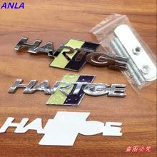 1 pièces 3D métal HARTGE voiture logo emblème autocollants gril Badge voiture style décalcomanie accessoires pour BMW 3 5 7 série X1 X3 X5 X6 E46 E60