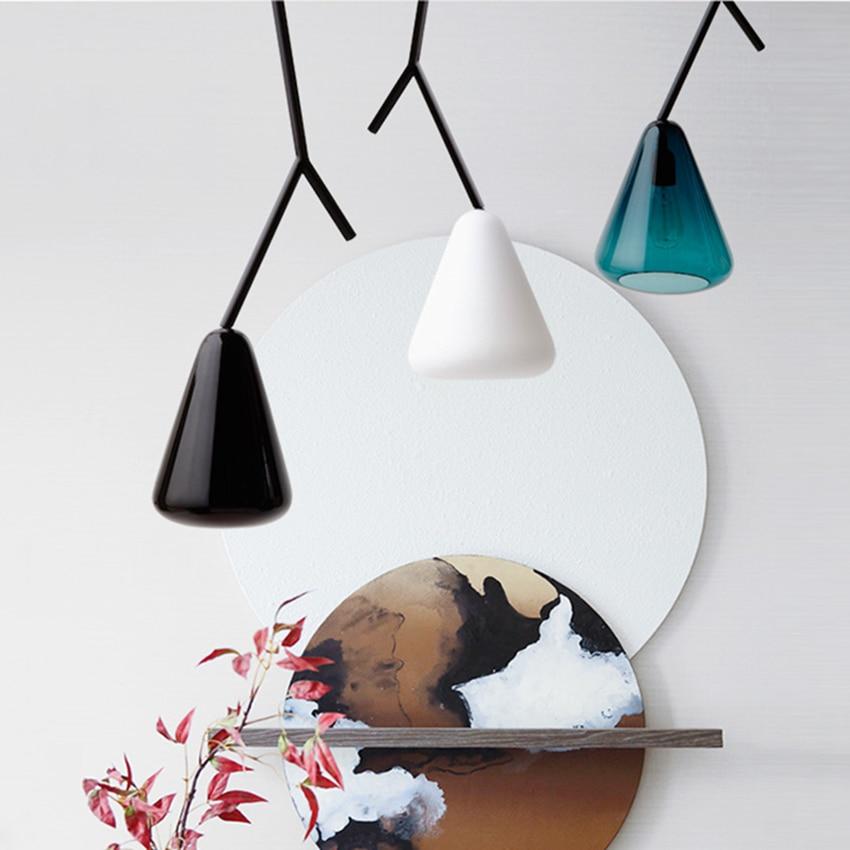 Modern LED Boughs Glass Pendant Lights Lighting Nordic Design Loft Deco Lamp Living Room Bedroom Bedside Home Decorative