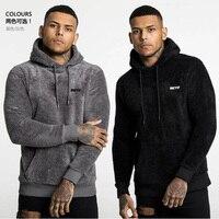 2020 Мужская модная брендовая уличная шерстяная Вельветовая Толстая куртка, теплый свитшот с капюшоном, зимняя одежда для бега, фитнеса
