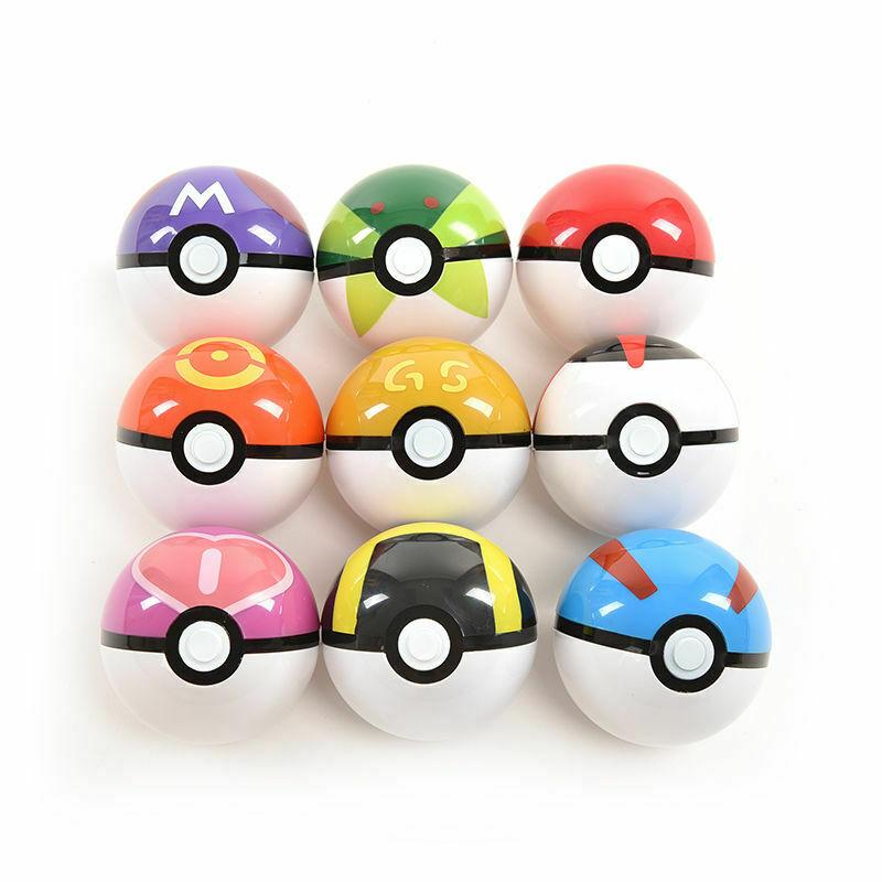 Pokemon Pikachu Pokeball Cosplay Pop-up de Poke bola juguete regalo creativo 7cm