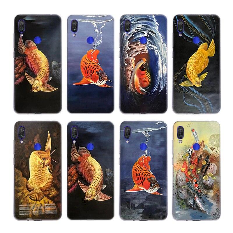 Koi fish Case For Xiaomi Note 10 9 8 lite A3 5X 6X CC9 CC9E 9SE 8SE 9T Pocophone F1 Cover