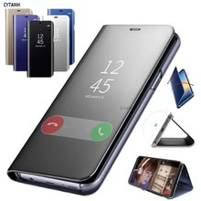 Clear View Spiegel Telefon Fall Für Huawei P30 Lite Fall Mode Flip Stand Leder Abdeckung Für Huawei P30 Lite MAR-LX1M abdeckung