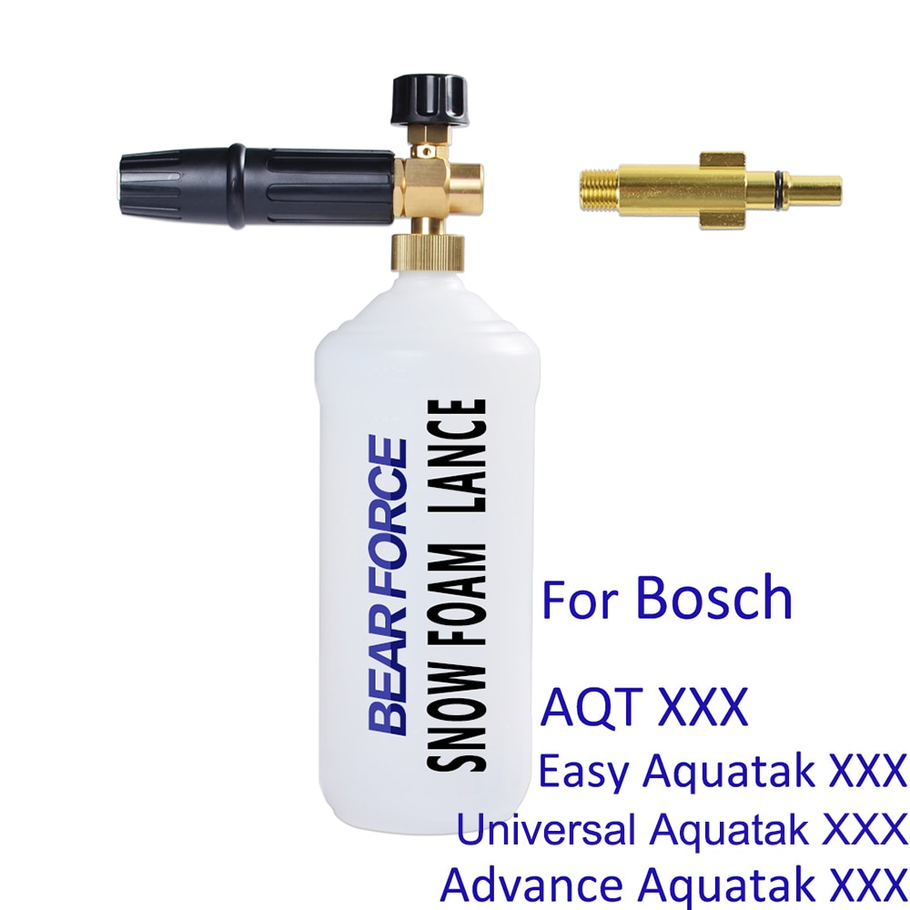 Пенораспылитель для мыла высокого давления, Снежная пена, бутылка, распылитель шампуня, пенная насадка для Bosch AQT Aquatak, мойка для автомобиля, Мойка под давлением