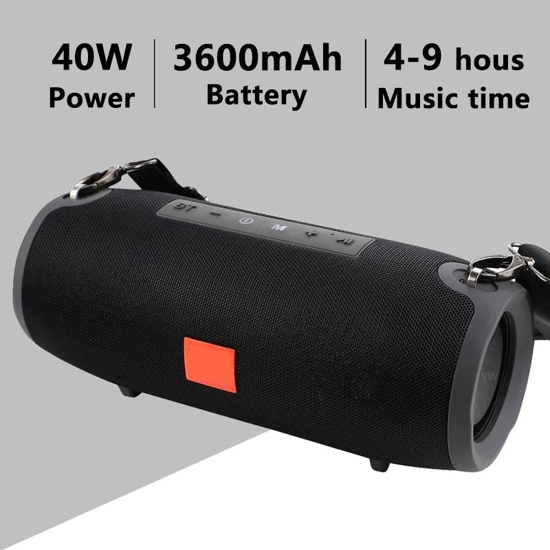 TG118 40 واط سمّاعات بلوتوث عمود عالية الطاقة المحمولة مكبر الصوت للكمبيوتر مركز الموسيقى صندوق بوم مع TF AUX USB راديو