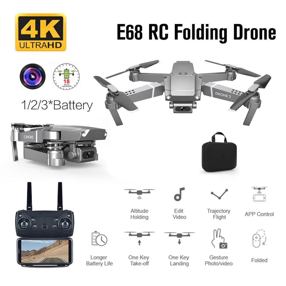 2020 NEW E68 Drone HD wide angle 4K/1080P/720P WIFI FPV Drones aerial photography Altitude Hold Fold