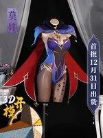 Anime Game Genshin Impact Mona Battle Uniform Gorgeous Outfit Bodysuit Witch Dress Cosplay Costume Halloween Women Free Shipping