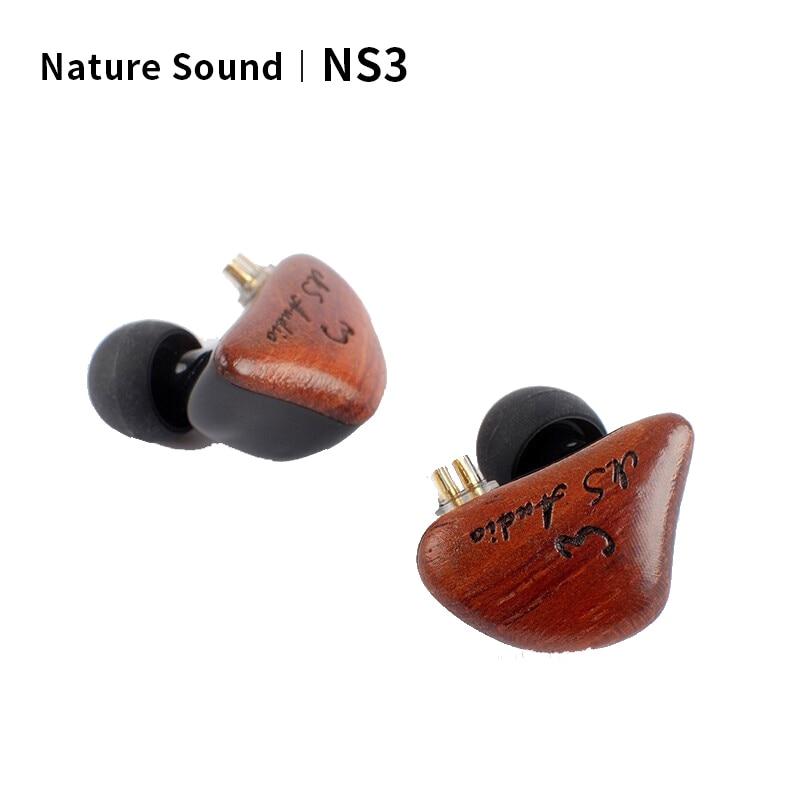 Nature sound NS NS3 السلكية سماعة تحديث الديناميكي سائق 2Pin 0.78 مللي متر إلى 3.5 مللي متر HiFi أو في الأذن سماعات الأذن الحد من الضوضاء سماعات