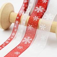 12 5cm white red organza printed ribbon lace collar fabric sewing applique bow wedding headband diy supplies 080734