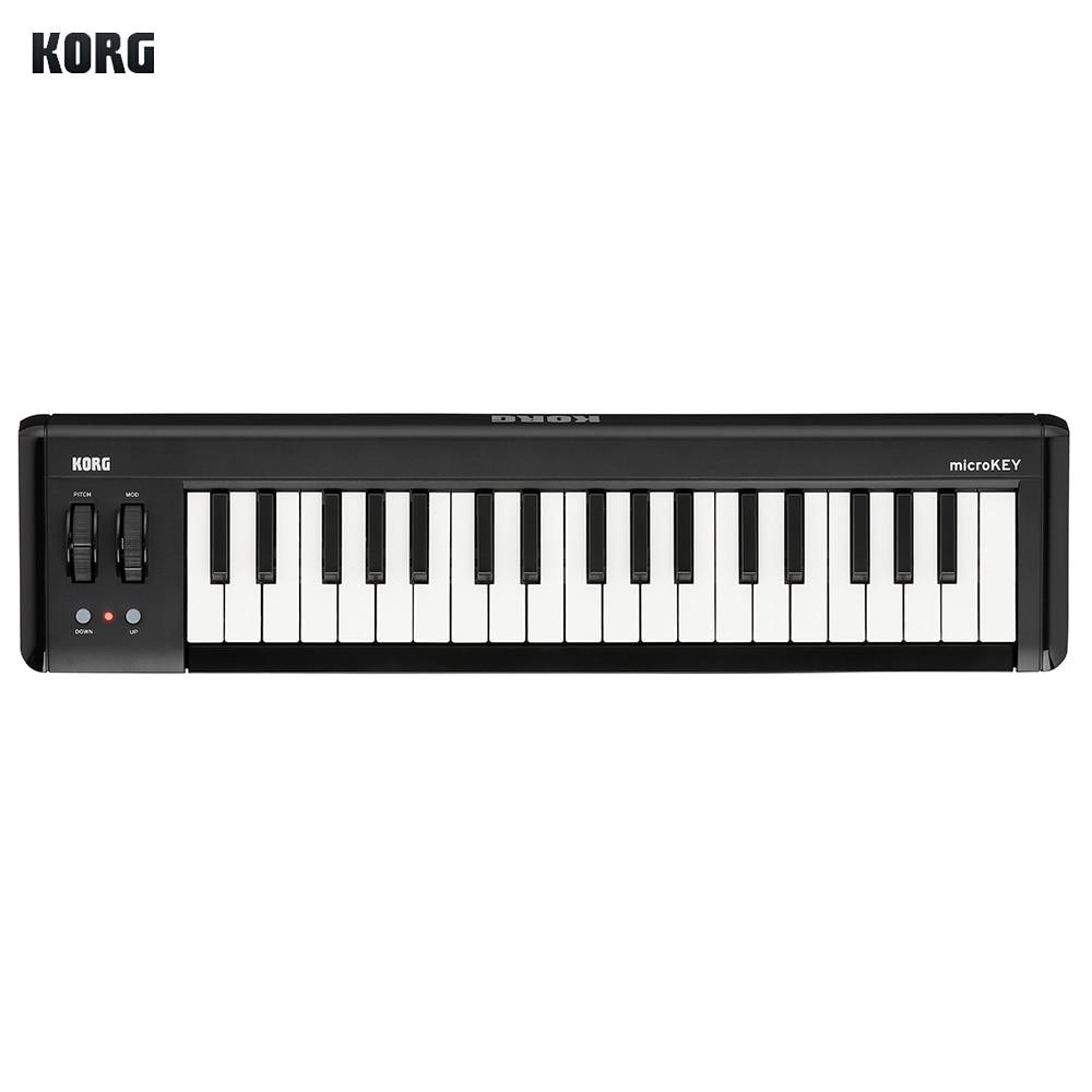 KORG MIDI Контроллер 37-клавиша компактный USB MIDI контроллер клавиатуры с питанием от USB совместим с iPhone iPad Mac компьютер Windows