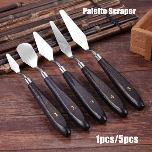 1pc Mixed Stainless Steel Palette Scraper Set Spatula Knives For Artist Oil Painting Tools Painting Knife Blade
