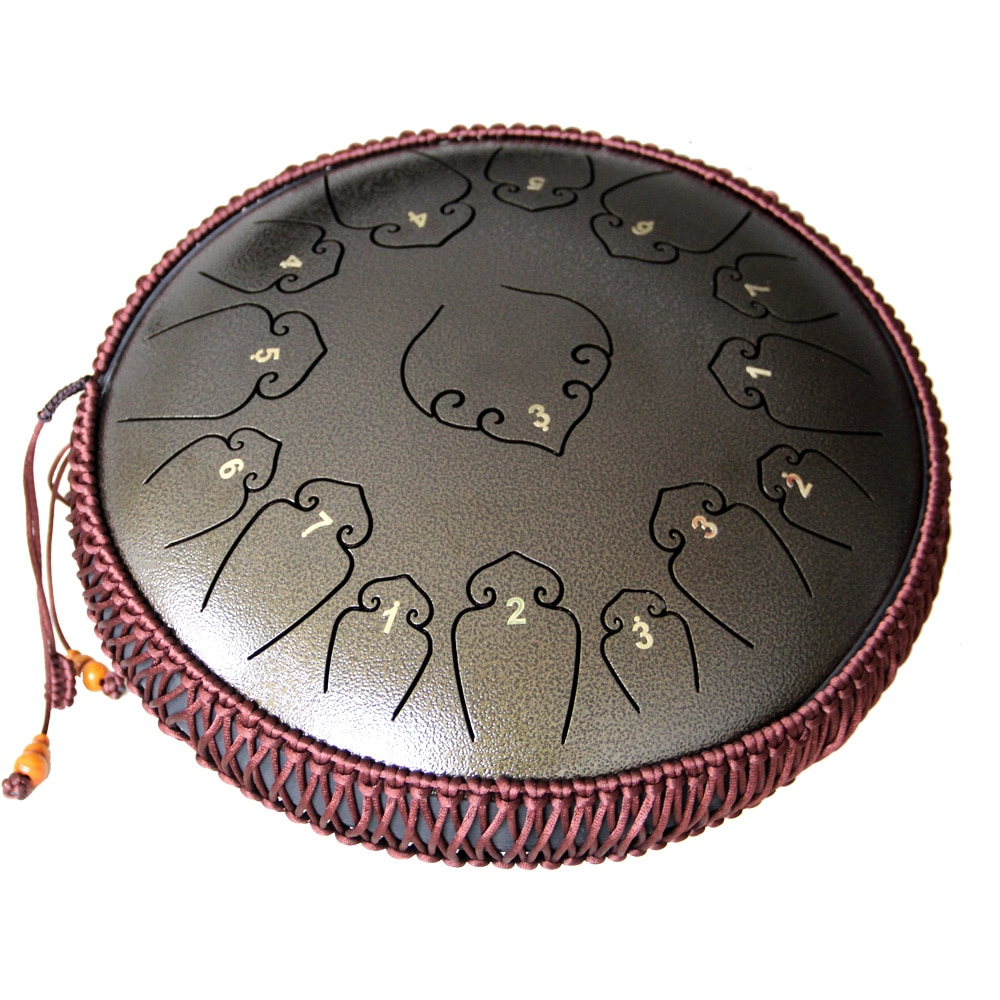 Tongue Drum 14 Inch 15 Notes Handpan Drum Tank Drum Chakra Drum for Meditation, Yoga and Zen with Travel Bag enlarge