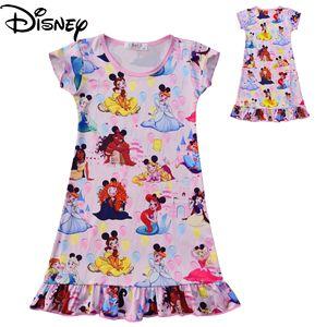 Disney Frozen soft and comfortable princess dress children dress girls pajamas dress girl clothes
